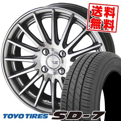 185/55R15 82V TOYO TIRES トーヨー タイヤ SD-7 エスディーセブン STEINER FORCED SERIES SF-X シュタイナー フォースドシリーズ SF-X サマータイヤホイール4本セット