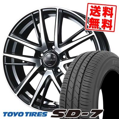 215/55R17 94V TOYO TIRES トーヨー タイヤ SD-7 エスディーセブン EouroSport Shandry SE ユーロスポーツ シャンドリーSE サマータイヤホイール4本セット