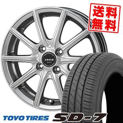 175/60R16 82H TOYO TIRES トーヨー タイヤ SD-7 エスディーセブン ZACK SPORT-01 ザック シュポルト01 サマータイヤホイール4本セット
