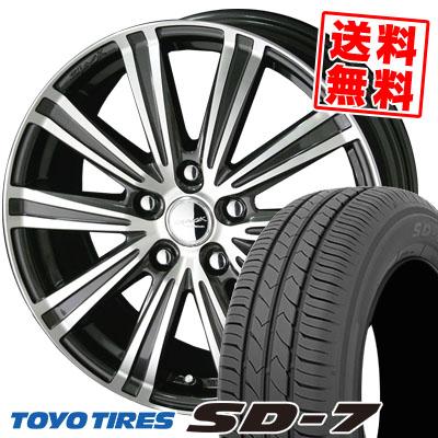 195/65R15 91H TOYO TIRES トーヨー タイヤ SD-7 エスディーセブン SMACK SPARROW スマック スパロー サマータイヤホイール4本セット