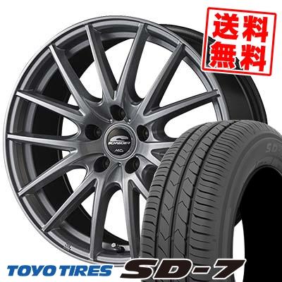 215/45R17 87W TOYO TIRES トーヨー タイヤ SD-7 エスディーセブン SCHNEIDER SQ27 シュナイダー SQ27 サマータイヤホイール4本セット