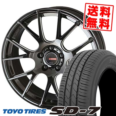 215/50R17 91V TOYO TIRES トーヨー タイヤ SD-7 エスディーセブン CIRCLAR RM-7 サーキュラー RM-7 サマータイヤホイール4本セット