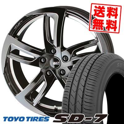225/45R18 91W TOYO TIRES トーヨー タイヤ SD-7 エスディーセブン STEINER FORCED SF-C シュタイナー フォースド SF-C サマータイヤホイール4本セット