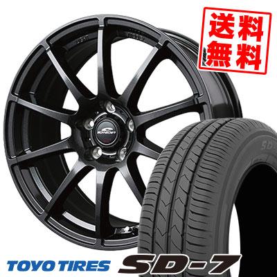 225/45R18 91W TOYO TIRES トーヨー タイヤ SD-7 エスディーセブン SCHNEDER StaG シュナイダー スタッグ サマータイヤホイール4本セット
