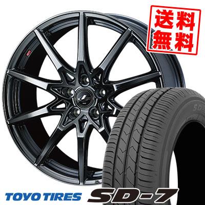 215/55R17 94V TOYO TIRES トーヨー タイヤ SD-7 エスディーセブン weds LEONIS SV ウェッズ レオニス SV サマータイヤホイール4本セット