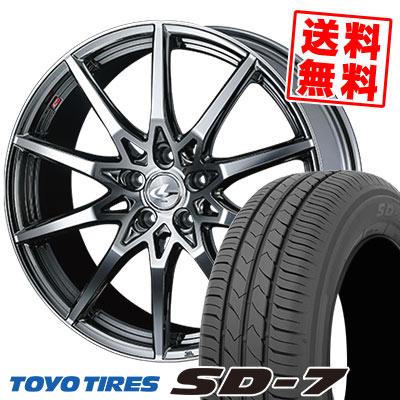 215/50R17 91V TOYO TIRES トーヨー タイヤ SD-7 エスディーセブン weds LEONIS SV ウェッズ レオニス SV サマータイヤホイール4本セット