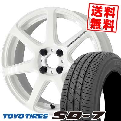 185/60R15 84H TOYO TIRES トーヨー タイヤ SD-7 エスディーセブン WORK EMOTION T7R ワーク エモーション T7R サマータイヤホイール4本セット