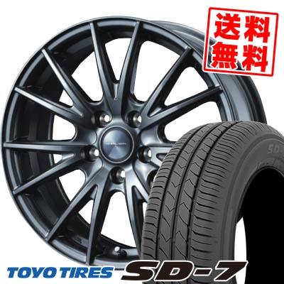 215/50R17 91V TOYO TIRES トーヨー タイヤ SD-7 エスディーセブン VELVA SPORT ヴェルヴァ スポルト サマータイヤホイール4本セット
