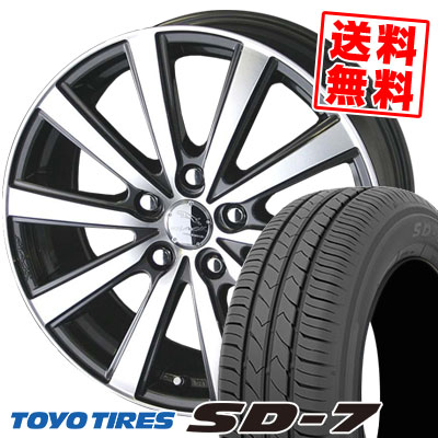 195/65R15 91H TOYO TIRES トーヨー タイヤ SD-7 エスディーセブン SMACK VIR スマック VI-R サマータイヤホイール4本セット