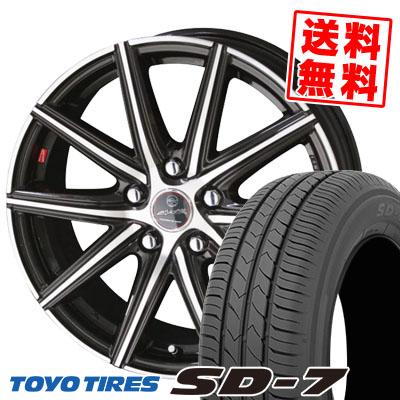 195/65R15 91H TOYO TIRES トーヨー タイヤ SD-7 エスディーセブン SMACK PRIME SERIES VANISH スマック プライムシリーズ ヴァニッシュ サマータイヤホイール4本セット
