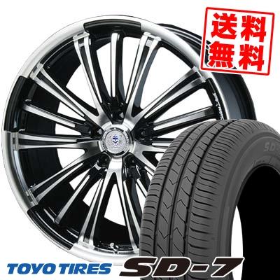 215/50R17 91V TOYO TIRES トーヨー タイヤ SD-7 エスディーセブン BAHNS TECK VR-01 バーンズテック VR01 サマータイヤホイール4本セット