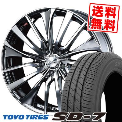 215/55R17 94V TOYO TIRES トーヨー タイヤ SD-7 エスディーセブン weds LEONIS VT ウエッズ レオニス VT サマータイヤホイール4本セット