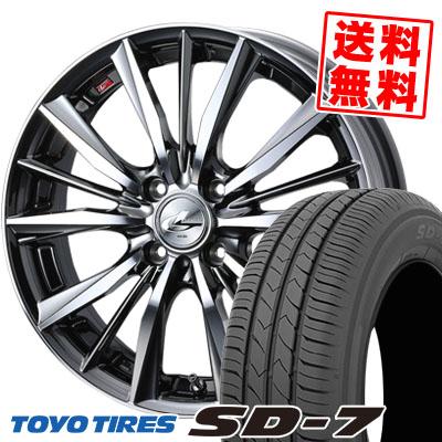 175/60R16 82H TOYO TIRES トーヨー タイヤ SD-7 エスディーセブン weds LEONIS VX ウエッズ レオニス VX サマータイヤホイール4本セット
