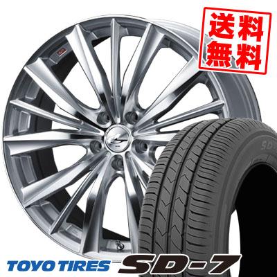 195/65R15 91H TOYO TIRES トーヨー タイヤ SD-7 エスディーセブン weds LEONIS VX ウエッズ レオニス VX サマータイヤホイール4本セット