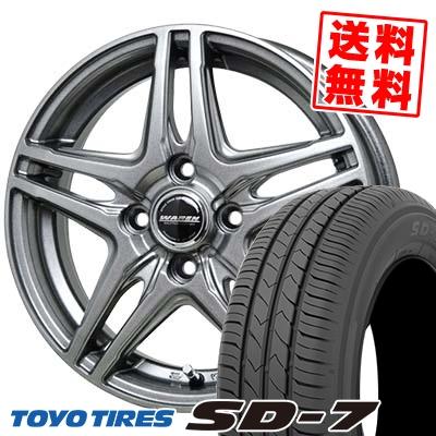 185/65R14 86S TOYO TIRES トーヨー タイヤ SD-7 エスディーセブン WAREN W04 ヴァーレン W04 サマータイヤホイール4本セット