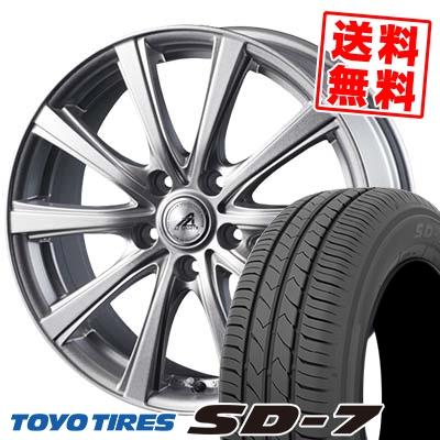 215/55R17 94V TOYO TIRES トーヨー タイヤ SD-7 エスディーセブン AZ sports YL-10 AZスポーツ YL-10 サマータイヤホイール4本セット