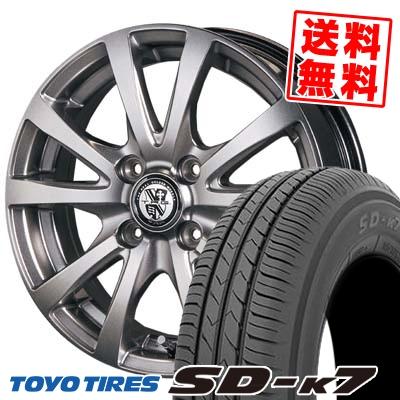 155/65R14 75S TOYO TIRES トーヨー タイヤ SD-K7 エスディーケ-セブン TRG-BAHN TRG バーン サマータイヤホイール4本セット