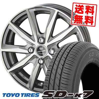 155/65R13 73S TOYO TIRES トーヨー タイヤ SD-K7 エスディーケ-セブン SMACK BASALT スマック バサルト サマータイヤホイール4本セット