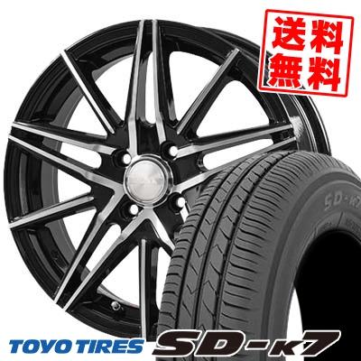 165/55R14 72V TOYO TIRES トーヨー タイヤ SD-K7 エスディーケ-セブン 1445 ブロンクス TB01 サマータイヤホイール4本セット