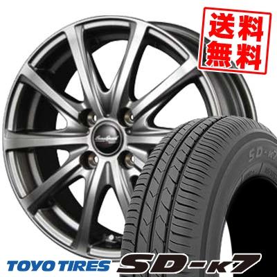 165/70R13 79S TOYO TIRES トーヨー タイヤ SD-K7 エスディーケ-セブン EuroSpeed V25 ユーロスピード V25 サマータイヤホイール4本セット