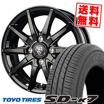 155/65R14 75S TOYO TIRES トーヨー タイヤ SD-K7 エスディーケ-セブン TRG-GB10 TRG GB10 サマータイヤホイール4本セット