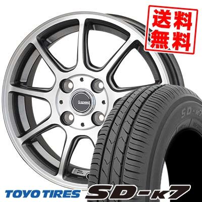 165/55R15 75V TOYO TIRES トーヨー タイヤ SD-K7 エスディーケ-セブン G.Speed P-01 Gスピード P-01 サマータイヤホイール4本セット