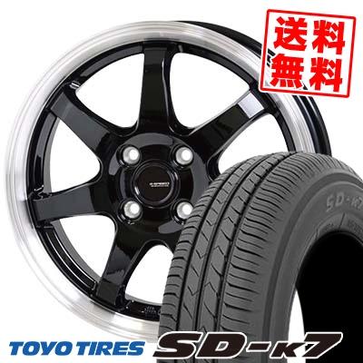 155/65R13 73S TOYO TIRES トーヨー タイヤ SD-K7 エスディーケ-セブン G.speed P-03 ジースピード P-03 サマータイヤホイール4本セット