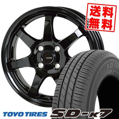 165/65R13 77S TOYO TIRES トーヨー タイヤ SD-K7 エスディーケ-セブン G.speed G-03 Gスピード G-03 サマータイヤホイール4本セット