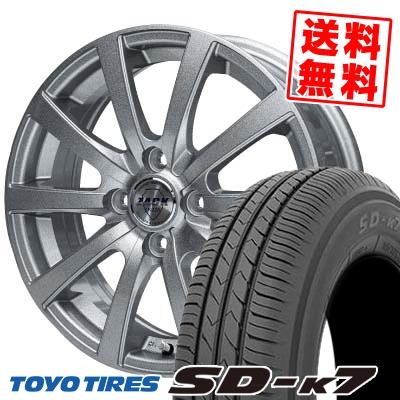 165/65R13 77S TOYO TIRES トーヨー タイヤ SD-K7 エスディーケ-セブン ZACK JP-110 ザック JP110 サマータイヤホイール4本セット