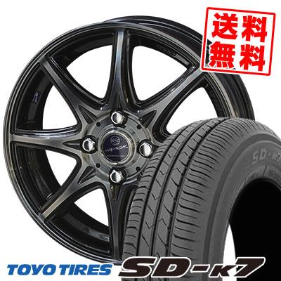 155/70R13 75S TOYO TIRES トーヨー タイヤ SD-K7 エスディーケ-セブン SMACK LAVINE スマック ラヴィーネ サマータイヤホイール4本セット
