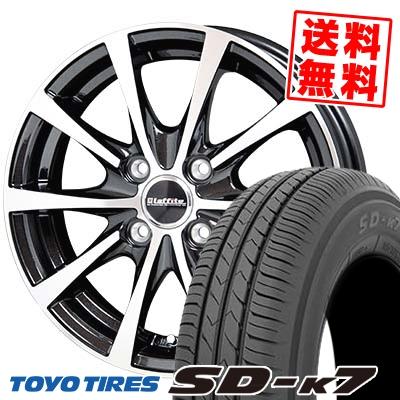 155/65R13 73S TOYO TIRES トーヨー タイヤ SD-K7 エスディーケ-セブン Laffite LE-03 ラフィット LE-03 サマータイヤホイール4本セット
