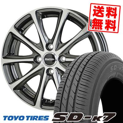 135/80R12 68S TOYO TIRES トーヨー タイヤ SD-K7 エスディーケ-セブン Laffite LE-04 ラフィット LE-04 サマータイヤホイール4本セット