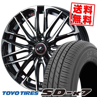 155/65R14 75S TOYO TIRES トーヨー タイヤ SD-K7 エスディーケ-セブン WEDS LEONIS SK ウェッズ レオニス SK サマータイヤホイール4本セット