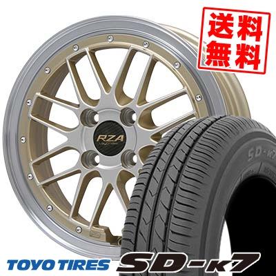 165/55R15 75V TOYO TIRES トーヨー タイヤ SD-K7 エスディーケ-セブン Leycross REZERVA レイクロス レゼルヴァ サマータイヤホイール4本セット