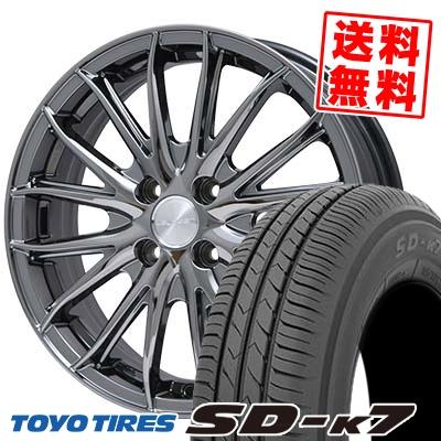 155/65R14 75S TOYO TIRES トーヨー タイヤ SD-K7 エスディーケ-セブン Leyseen SP-M レイシーン SP-M サマータイヤホイール4本セット