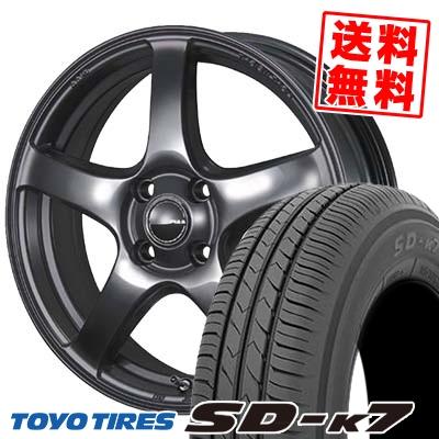 155/65R14 75S TOYO TIRES トーヨー タイヤ SD-K7 エスディーケ-セブン PIAA Eleganza S-01 PIAA エレガンツァ S-01 サマータイヤホイール4本セット