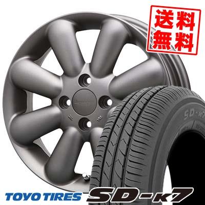 155/55R14 69V TOYO TIRES トーヨー タイヤ SD-K7 エスディーケ-セブン HYPERION PINO+(Plus) ハイペリオン ピノ+(プラス) サマータイヤホイール4本セット