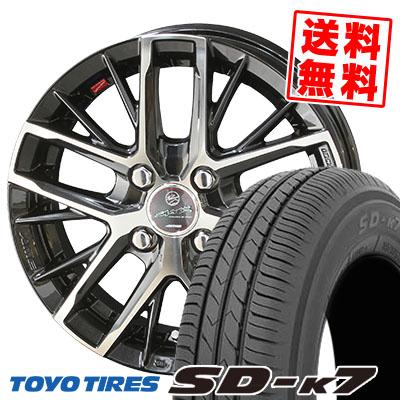 165/55R15 75V TOYO TIRES トーヨー タイヤ SD-K7 エスディーケ-セブン SMACK REVILA スマック レヴィラ サマータイヤホイール4本セット