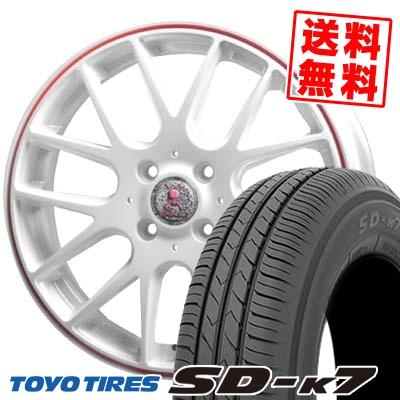 165/50R15 73V TOYO TIRES トーヨー タイヤ SD-K7 エスディーケ-セブン Roen RT-M ロエン RT-M サマータイヤホイール4本セット