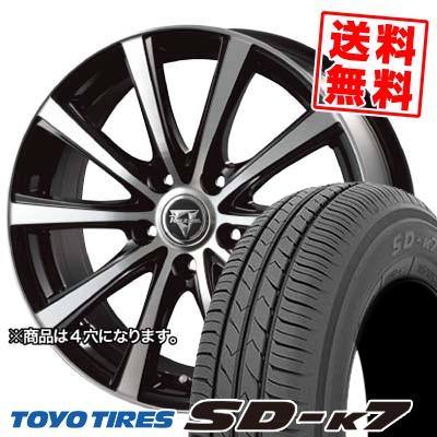 155/70R13 75S TOYO TIRES トーヨー タイヤ SD-K7 エスディーケ-セブン Razee XV レイジー XV サマータイヤホイール4本セット