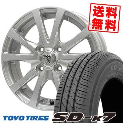145/80R13 75S TOYO TIRES トーヨー タイヤ SD-K7 エスディーケ-セブン TRG-SILBAHN TRG シルバーン サマータイヤホイール4本セット
