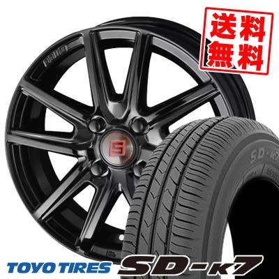 145/80R13 75S TOYO TIRES トーヨー タイヤ SD-K7 エスディーケ-セブン SEIN SS BLACK EDITION ザイン エスエス ブラックエディション サマータイヤホイール4本セット