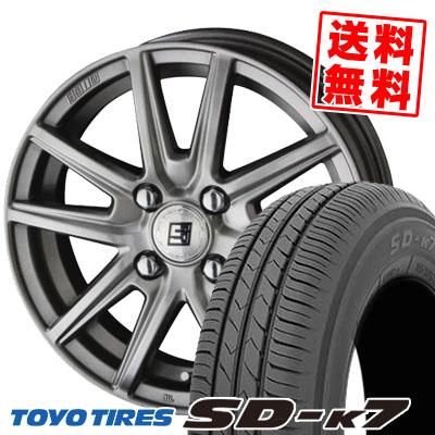 165/55R14 72V TOYO TIRES トーヨー タイヤ SD-K7 エスディーケ-セブン 1445 ザイン エスエス サマータイヤホイール4本セット