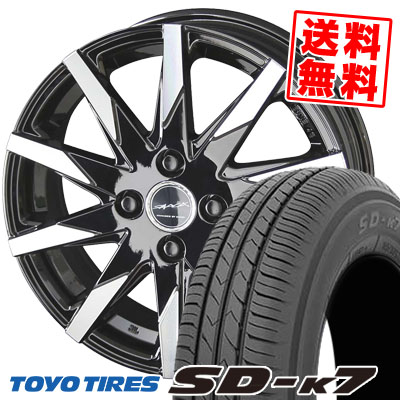 155/65R13 73S TOYO TIRES トーヨー タイヤ SD-K7 エスディーケ-セブン SMACK SFIDA スマック スフィーダ サマータイヤホイール4本セット