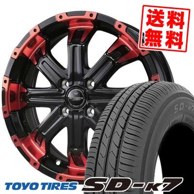165/55R15 75V TOYO TIRES トーヨー タイヤ SD-K7 エスディーケ-セブン BADX LOXARNY BATTLESHIP4 バドックス ロクサーニ バトルシップ4 サマータイヤホイール4本セット