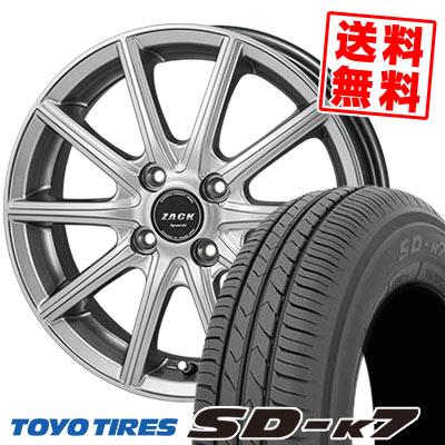 155/55R14 69V TOYO TIRES トーヨー タイヤ SD-K7 エスディーケ-セブン ZACK SPORT-01 ザック シュポルト01 サマータイヤホイール4本セット