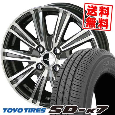 155/65R13 73S TOYO TIRES トーヨー タイヤ SD-K7 エスディーケ-セブン SMACK SPARROW スマック スパロー サマータイヤホイール4本セット