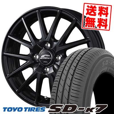 155/65R13 73S TOYO TIRES トーヨー タイヤ SD-K7 エスディーケ-セブン SCHNEIDER SQ27 シュナイダー SQ27 サマータイヤホイール4本セット
