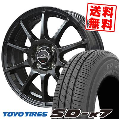 165/55R14 72V TOYO TIRES トーヨー タイヤ SD-K7 エスディーケ-セブン SCHNEDER StaG シュナイダー スタッグ サマータイヤホイール4本セット