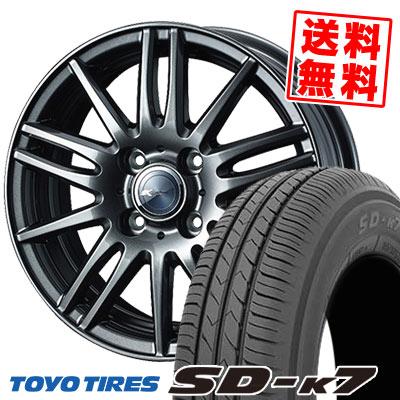 155/70R13 75S TOYO TIRES トーヨー タイヤ SD-K7 エスディーケ-セブン Zamik Tito ザミック ティート サマータイヤホイール4本セット